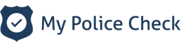My Police Check logo blue